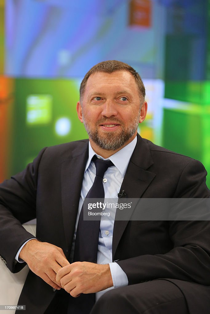 <a gi-track='captionPersonalityLinkClicked' href=/galleries/search?phrase=Oleg+Deripaska&family=editorial&specificpeople=5574016 ng-click='$event.stopPropagation()'>Oleg Deripaska</a>, Russian billionaire and chief executive officer of United Co. Rusal, pauses on the opening day of the St. Petersburg International Economic Forum 2013 (SPIEF) in St. Petersburg, Russia, on Thursday, June 20, 2013. Russian consumer spending probably eased and investment shrank at the fastest pace since 2011, adding to evidence the $2 trillion economy is stalling. Photographer: Andrey Rudakov/Bloomberg via Getty Images