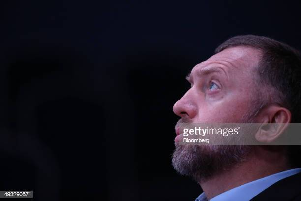 Oleg Deripaska Russian billionaire and chief executive officer of United Co Rusal pauses during a session at the St Petersburg International Economic...