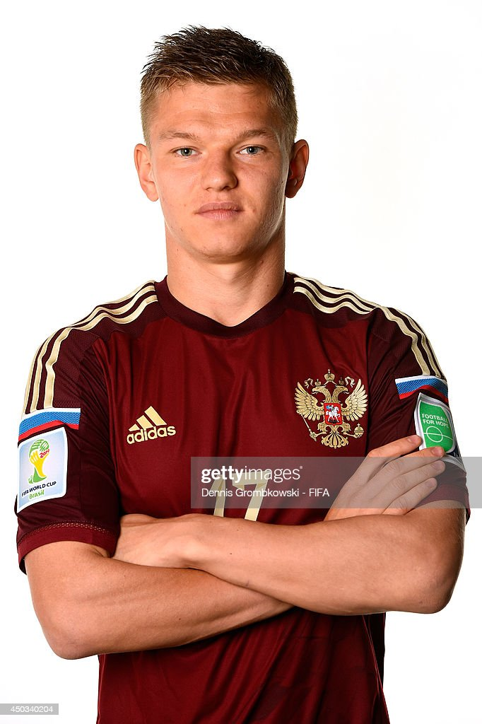 <a gi-track='captionPersonalityLinkClicked' href=/galleries/search?phrase=Oleg+Shatov&family=editorial&specificpeople=9633751 ng-click='$event.stopPropagation()'>Oleg Shatov</a> of Russia poses during the Official FIFA World Cup 2014 portrait session on June 9, 2014 in Sao Paulo, Brazil.