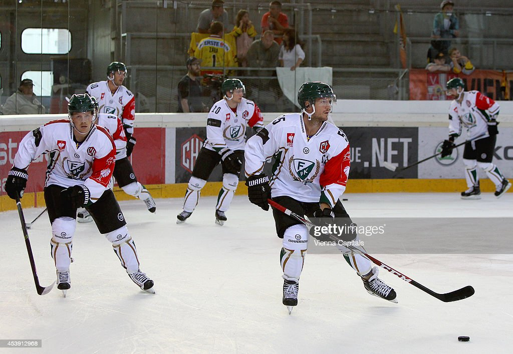 Ole-Kristian Tollefsen Faerjestad in action during the Champions Hockey League group stage game between Vienna Capitals and Faerjestad Karlstad on August 21, 2014 in Vienna, Austria.