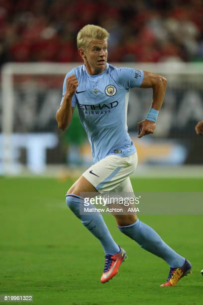 Oleksandr Zinchenko of Manchester City during the International Champions Cup 2017 match between Manchester United and Manchester City at NRG Stadium...