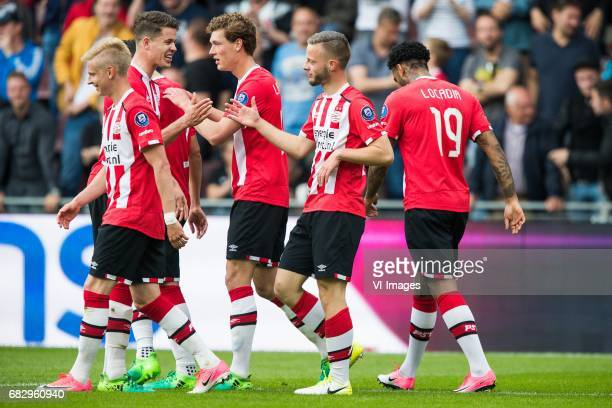 Oleksandr Zinchenko of PSV Marco van Ginkel of PSV Sam Lammers of PSV Bart Ramselaar of PSV Jurgen Locadia of PSVduring the Dutch Eredivisie match...