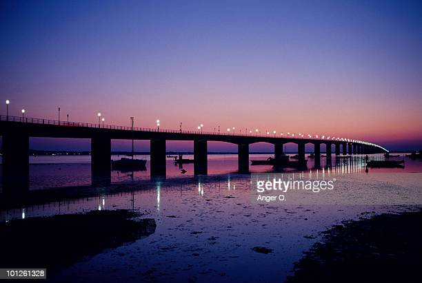 Oleron bridge at sunset, Ile de Re, Charente-Maritime, France