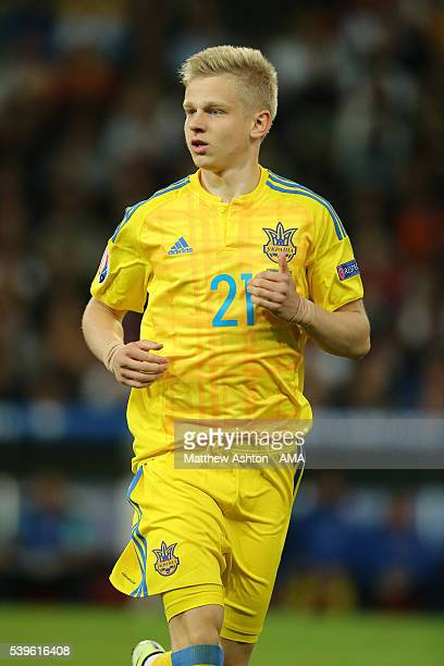 Olexandr Zinchenko of Ukraine during the UEFA EURO 2016 Group C match between Germany and Ukraine at Stade PierreMauroy on June 12 2016 in Lille...