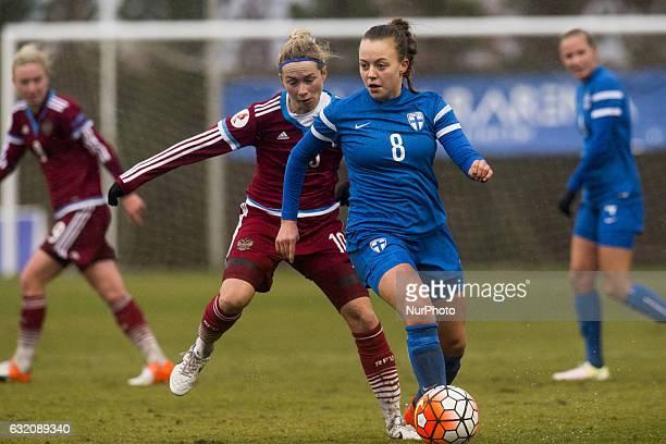 Olga Ahtinen Elena Terekhova during the pre season friendly match of national women's teams of Russia vs Finland in Pinatar Arena Murcia SPAIN 19th...