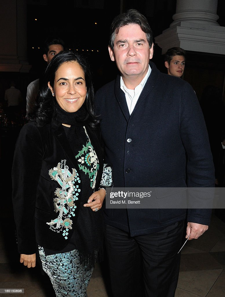 Olga Dreesmann and Pieter Dreesmann attend the Alexander McQueen and Frieze Dinner to celebrate the Frieze Art Fair 2013 on October 17, 2013 in London, England.