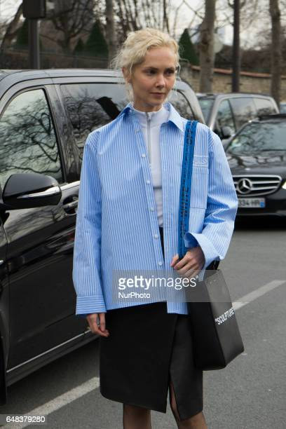 Olga Karput attends the Dior Fashion Show Week Fall/Winter 2017/18 on March 3 2017 in Paris France