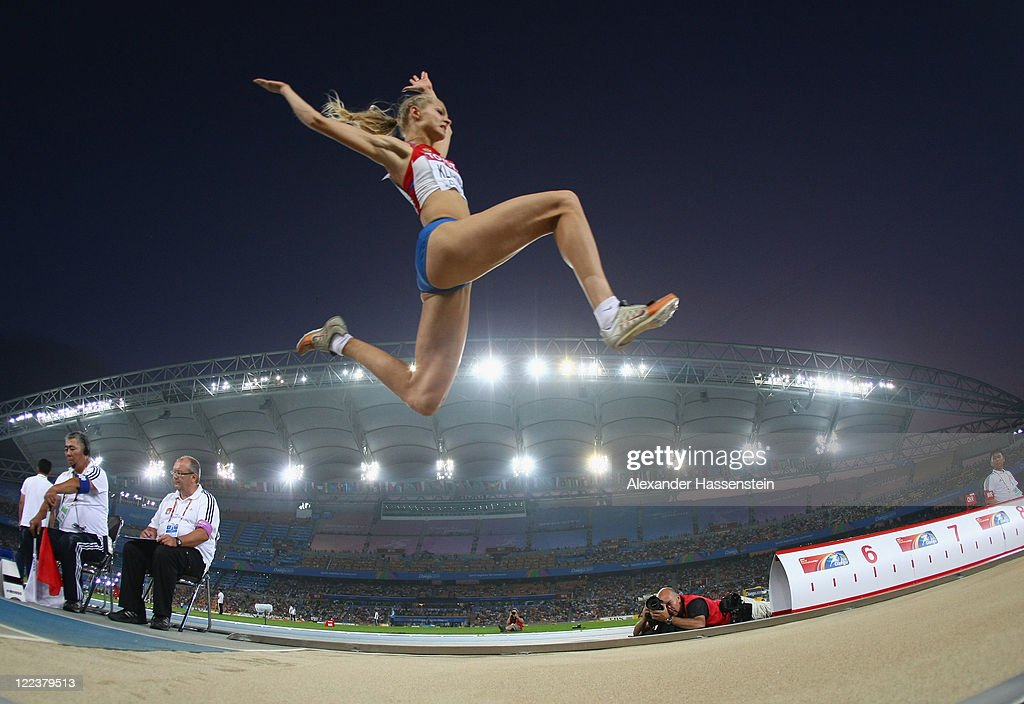 Olga Kucherenko of Russia competes in the women's long jump final during day two of the 13th IAAF World Athletics Championships at the Daegu Stadium on August 28, 2011 in Daegu, South Korea.