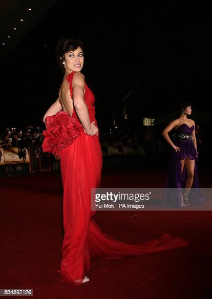 Olga Kurylenko and Gemma Arterton arrives for the World premiere of 'Quantum Of Solace' at the Odeon Leicester Square WC2