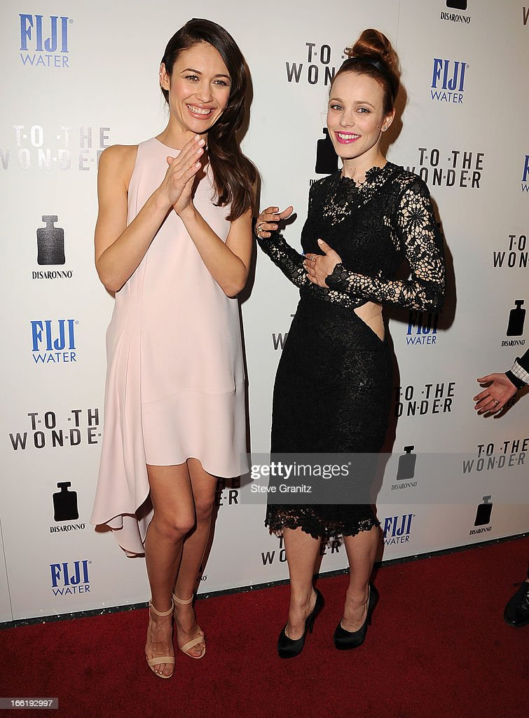 <a gi-track='captionPersonalityLinkClicked' href=/galleries/search?phrase=Olga+Kurylenko&family=editorial&specificpeople=630281 ng-click='$event.stopPropagation()'>Olga Kurylenko</a> and <a gi-track='captionPersonalityLinkClicked' href=/galleries/search?phrase=Rachel+McAdams&family=editorial&specificpeople=212942 ng-click='$event.stopPropagation()'>Rachel McAdams</a> arrives at the 'To The Wonder' Los Angeles premiere at Pacific Design Center on April 9, 2013 in West Hollywood, California.