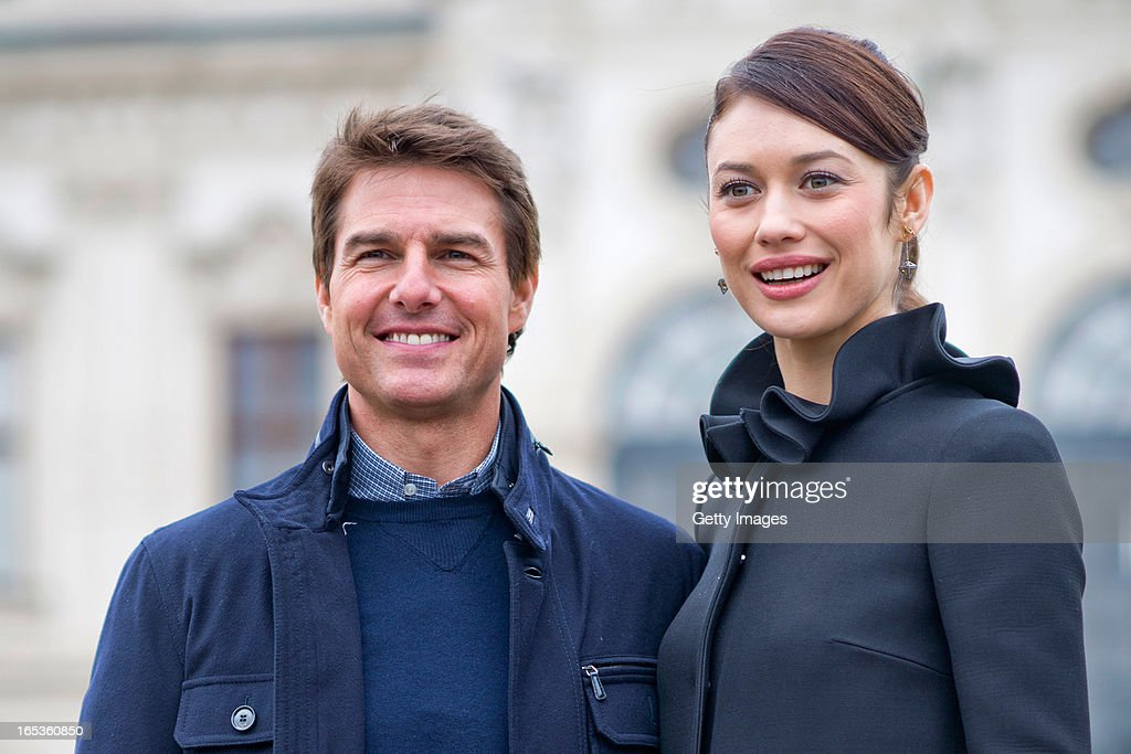 <a gi-track='captionPersonalityLinkClicked' href=/galleries/search?phrase=Olga+Kurylenko&family=editorial&specificpeople=630281 ng-click='$event.stopPropagation()'>Olga Kurylenko</a> and <a gi-track='captionPersonalityLinkClicked' href=/galleries/search?phrase=Tom+Cruise&family=editorial&specificpeople=156405 ng-click='$event.stopPropagation()'>Tom Cruise</a> attend a photo call for the film 'Oblivion' at Belvedere Palace on April 2, 2013 in Vienna, Austria.