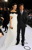 Olga Kurylenko and Tom Cruise attend the UK Premiere of 'Oblivion' at BFI IMAX on April 4 2013 in London England