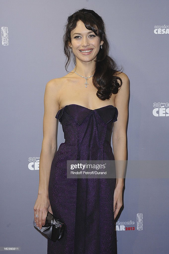 <a gi-track='captionPersonalityLinkClicked' href=/galleries/search?phrase=Olga+Kurylenko&family=editorial&specificpeople=630281 ng-click='$event.stopPropagation()'>Olga Kurylenko</a> arrives at Cesar Film Awards 2013 at Theatre du Chatelet on February 22, 2013 in Paris, France.