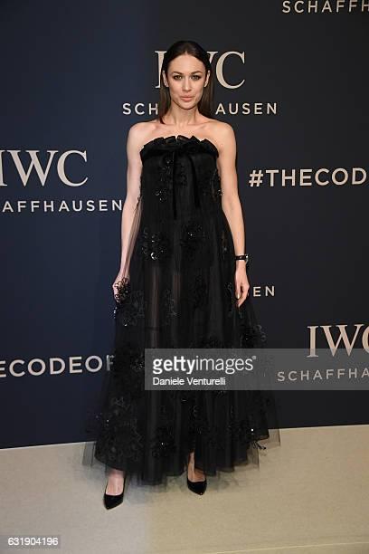 Olga Kurylenko arrives at IWC Schaffhausen at SIHH 2017 'Decoding the Beauty of Time' Gala Dinner on January 17 2017 in Geneva Switzerland