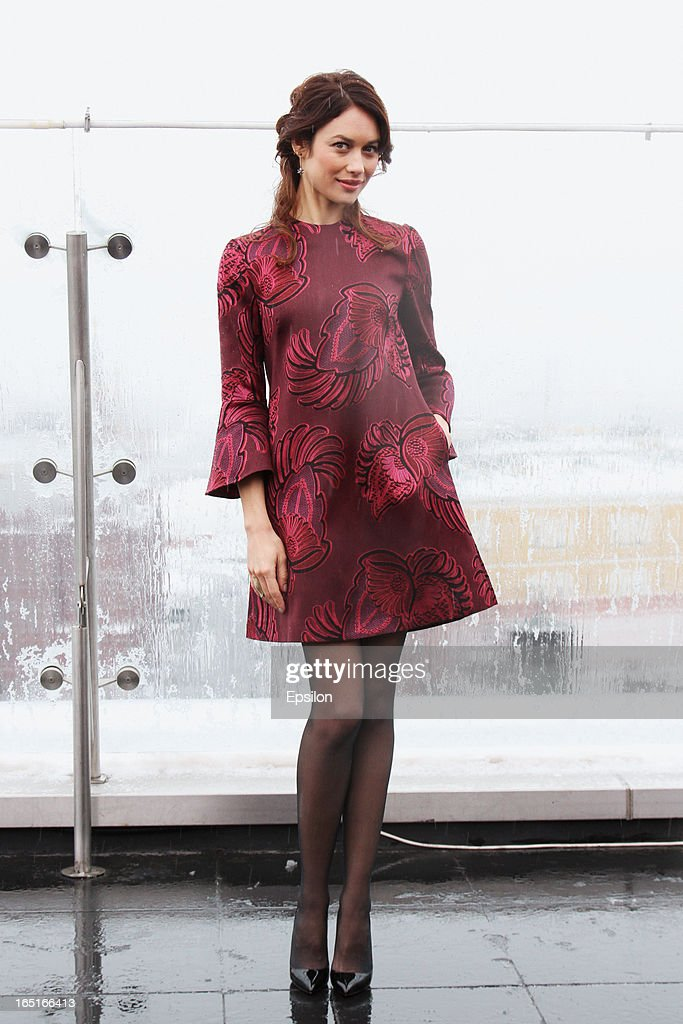 Olga Kurylenko attends a photo call of the 'Oblivion' at the Ritz Carlton Hotel on April 1, 2013 in Moscow, Russia.