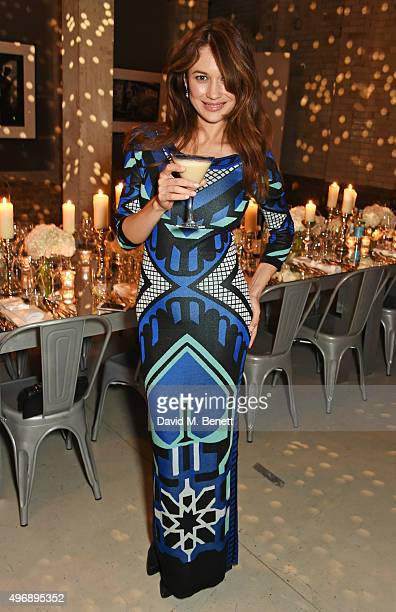 Olga Kurylenko attends an intimate dinner party hosted by Alice Temperley to celebrate 15 years of Temperley at GWP Studio on November 12 2015 in...