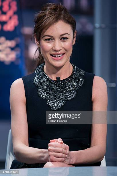 Olga Kurylenko attends 'El Hormiguero' Tv show at Vertice Studio on April 20 2015 in Madrid Spain