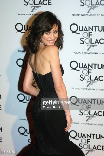 Olga Kurylenko attends 'Quantum Of Solace' premiere at the Warner Village Moderno cinema on November 5 2008 in Rome Italy
