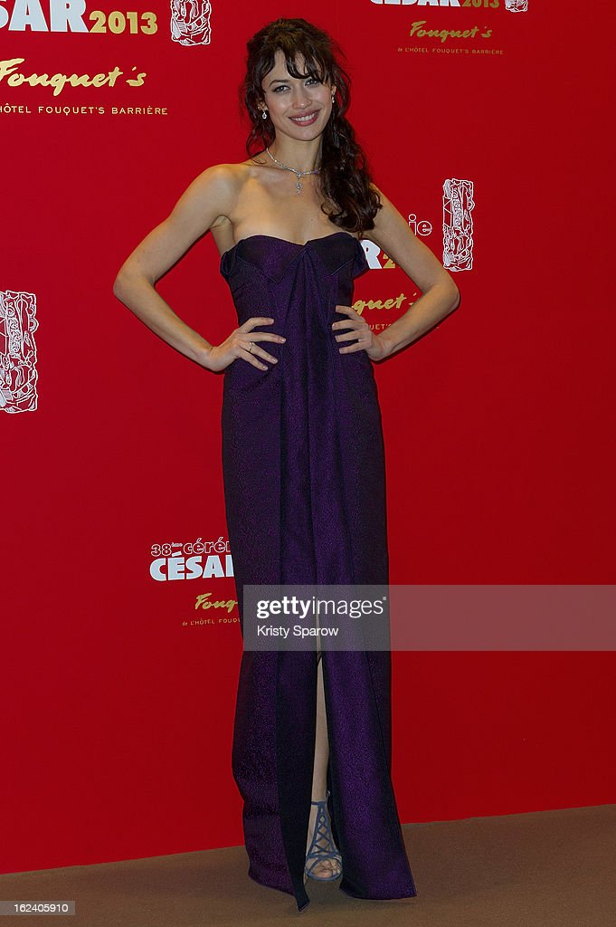 <a gi-track='captionPersonalityLinkClicked' href=/galleries/search?phrase=Olga+Kurylenko&family=editorial&specificpeople=630281 ng-click='$event.stopPropagation()'>Olga Kurylenko</a> attends the Cesar Film Awards 2013 at Le Fouquet's on February 22, 2013 in Paris, France.