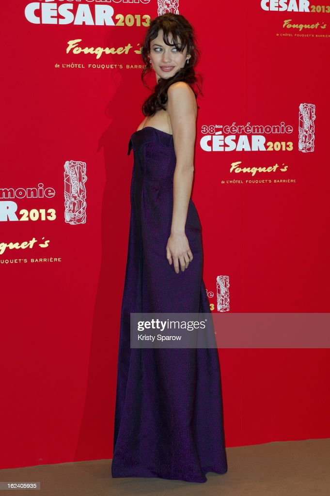 Olga Kurylenko attends the Cesar Film Awards 2013 at Le Fouquet's on February 22, 2013 in Paris, France.