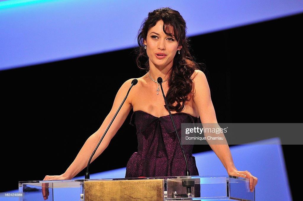 <a gi-track='captionPersonalityLinkClicked' href=/galleries/search?phrase=Olga+Kurylenko&family=editorial&specificpeople=630281 ng-click='$event.stopPropagation()'>Olga Kurylenko</a> attends the Cesar Film Awards 2013 at Theatre du Chatelet on February 22, 2013 in Paris, France.