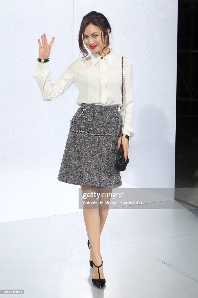 <a gi-track='captionPersonalityLinkClicked' href=/galleries/search?phrase=Olga+Kurylenko&family=editorial&specificpeople=630281 ng-click='$event.stopPropagation()'>Olga Kurylenko</a> attends the Chanel show as part of Paris Fashion Week Haute Couture Spring/Summer 2014 on January 21, 2014 in Paris, France.