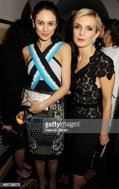 Olga Kurylenko attends the Charles Finch and Chanel PreBAFTA cocktail party and dinner at Annabel's on February 8 2013 in London England