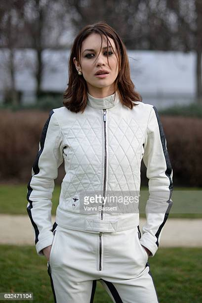 Olga Kurylenko attends the Christian Dior Haute Couture Spring Summer 2017 show as part of Paris Fashion Week at Musee Rodin on January 23 2017 in...