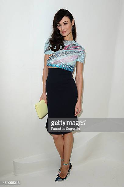 Olga Kurylenko attends the Christian Dior show as part of Paris Fashion Week Haute Couture Spring/Summer 2014 on January 20 2014 in Paris France