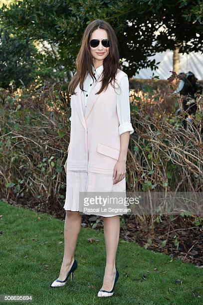 Olga Kurylenko attends the Christian Dior Spring Summer 2016 show as part of Paris Fashion Week on January 25 2016 in Paris France