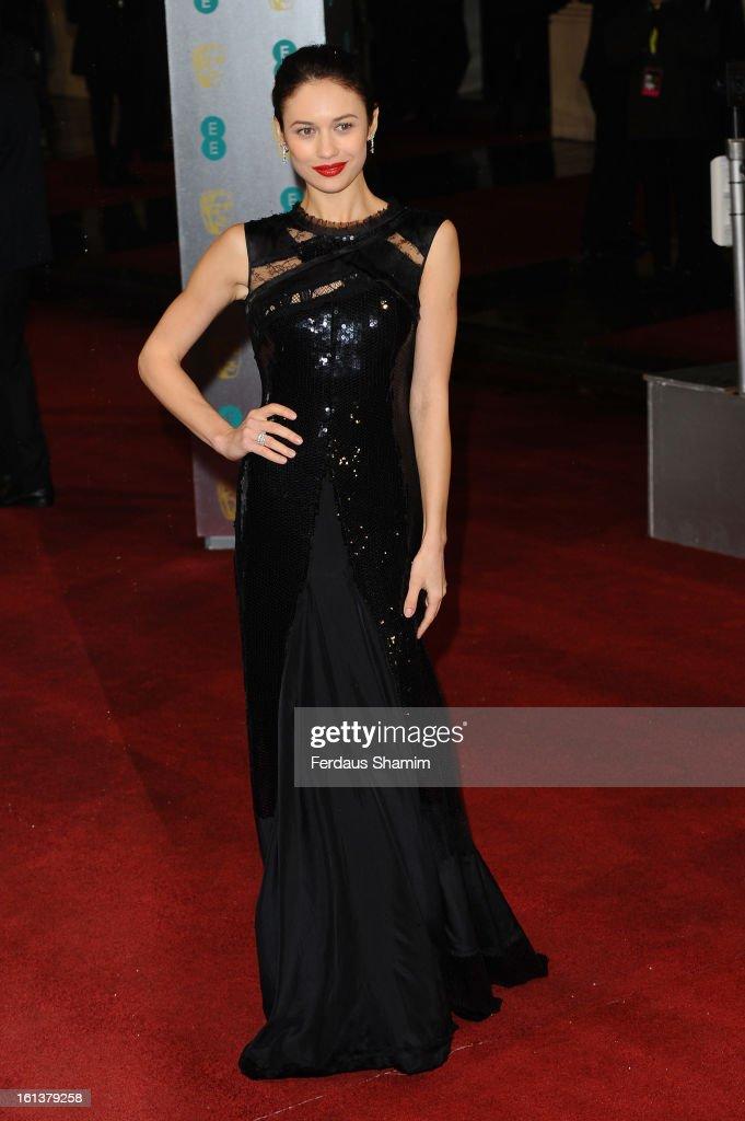 Olga Kurylenko attends the EE British Academy Film Awards at The Royal Opera House on February 10, 2013 in London, England.