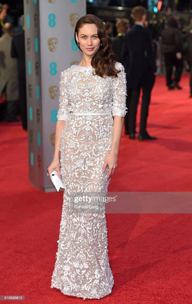 Olga Kurylenko attends the EE British Academy Film Awards at The Royal Opera House on February 14, 2016 in London, England.