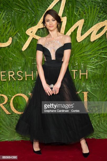 Olga Kurylenko attends the Fashion Awards 2017 In Partnership With Swarovski at Royal Albert Hall on December 4 2017 in London England