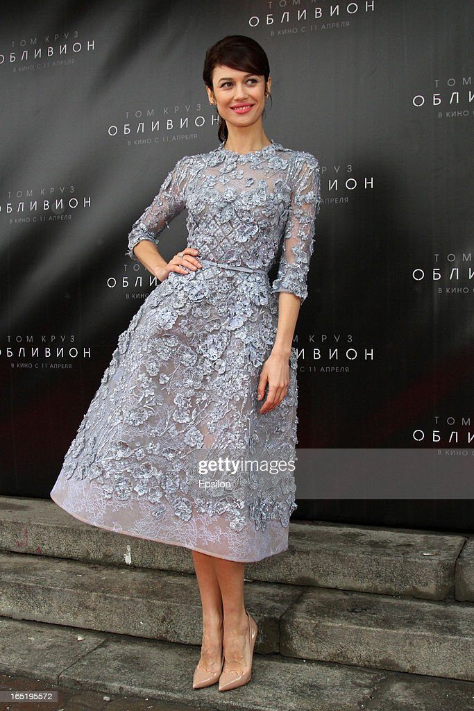 Olga Kurylenko attends the film premiere of 'Oblivion' at the Oktyabr cinema hall on April 1, 2013 in Moscow, Russia.