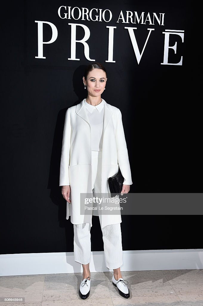 <a gi-track='captionPersonalityLinkClicked' href=/galleries/search?phrase=Olga+Kurylenko&family=editorial&specificpeople=630281 ng-click='$event.stopPropagation()'>Olga Kurylenko</a> attends the Giorgio Armani Prive Spring Summer 2016 show as part of Paris Fashion Week on January 26, 2016 in Paris, France.