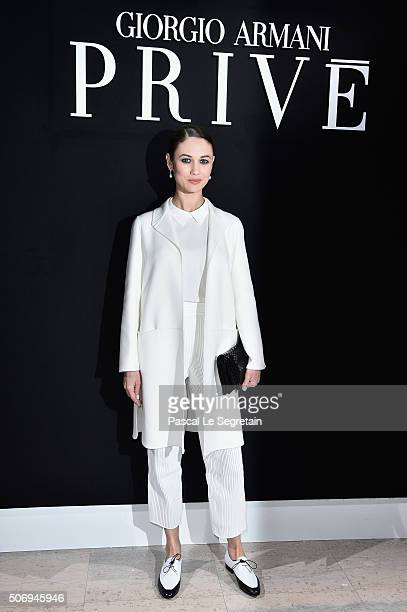 Olga Kurylenko attends the Giorgio Armani Prive Spring Summer 2016 show as part of Paris Fashion Week on January 26 2016 in Paris France