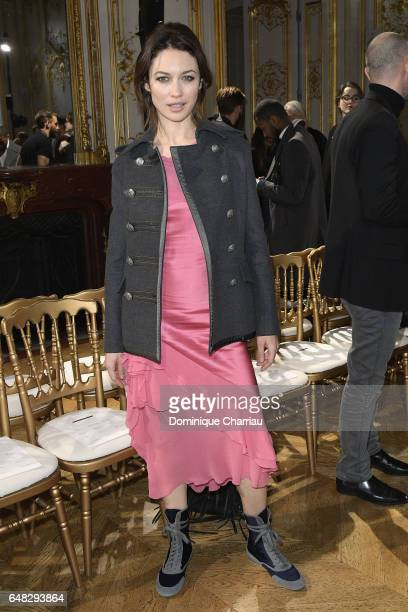 Olga Kurylenko attends the John Galliano show as part of the Paris Fashion Week Womenswear Fall/Winter 2017/2018 on March 5 2017 in Paris France