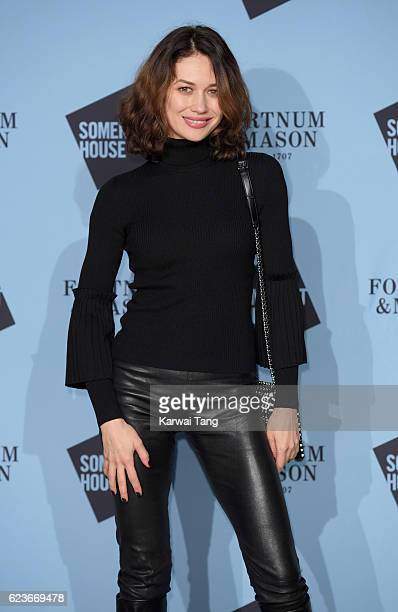 Olga Kurylenko attends the launch party for Skate at Somerset House with Fortnum Mason at Somerset House on November 16 2016 in London England