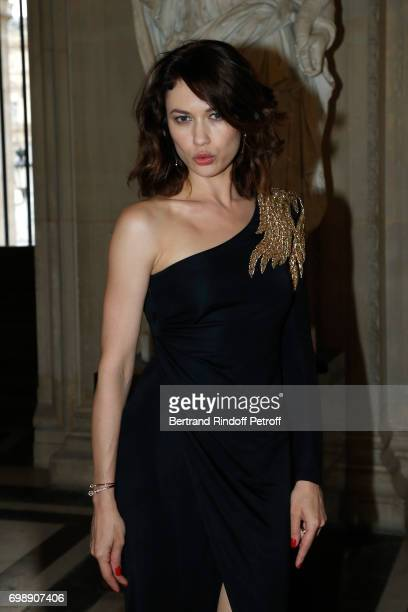 Olga Kurylenko attends the 'Liaisons au Louvre IV' Evening of patronage for the benefit of the Louvre Museum at Musee du Louvre on June 20 2017 in...