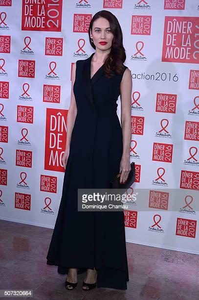 Olga Kurylenko attends the Sidaction Gala Dinner 2016 as part of Paris Fashion Week on January 28 2016 in Paris France