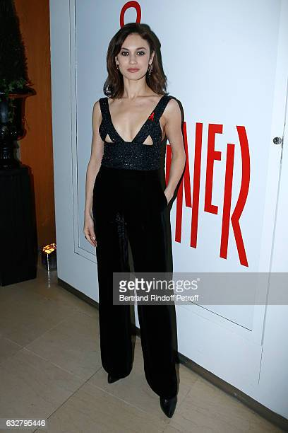 Olga Kurylenko attends the Sidaction Gala Dinner 2017 Haute Couture Spring Summer 2017 show as part of Paris Fashion Week on January 26 2017 in Paris...