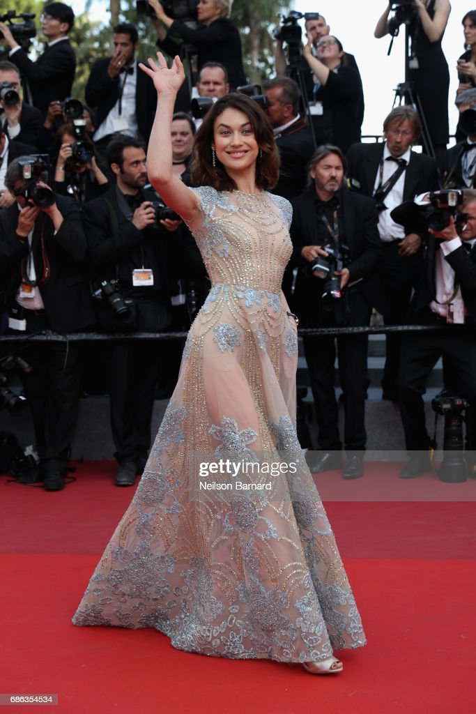 Olga Kurylenko attends the 'The Meyerowitz Stories' screening during the 70th annual Cannes Film Festival at Palais des Festivals on May 21, 2017 in Cannes, France.