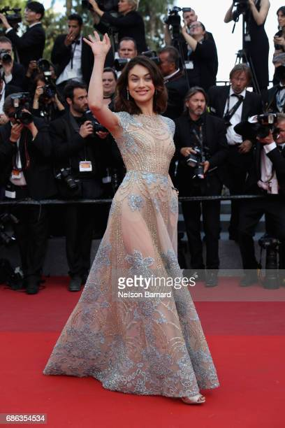 Olga Kurylenko attends the 'The Meyerowitz Stories' screening during the 70th annual Cannes Film Festival at Palais des Festivals on May 21 2017 in...