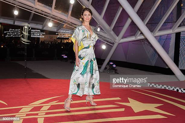 Olga Kurylenko attends the tribute to Canadian cinema during the 15th Marrakech International Film Festival on December 6 2015 in Marrakech Morocco