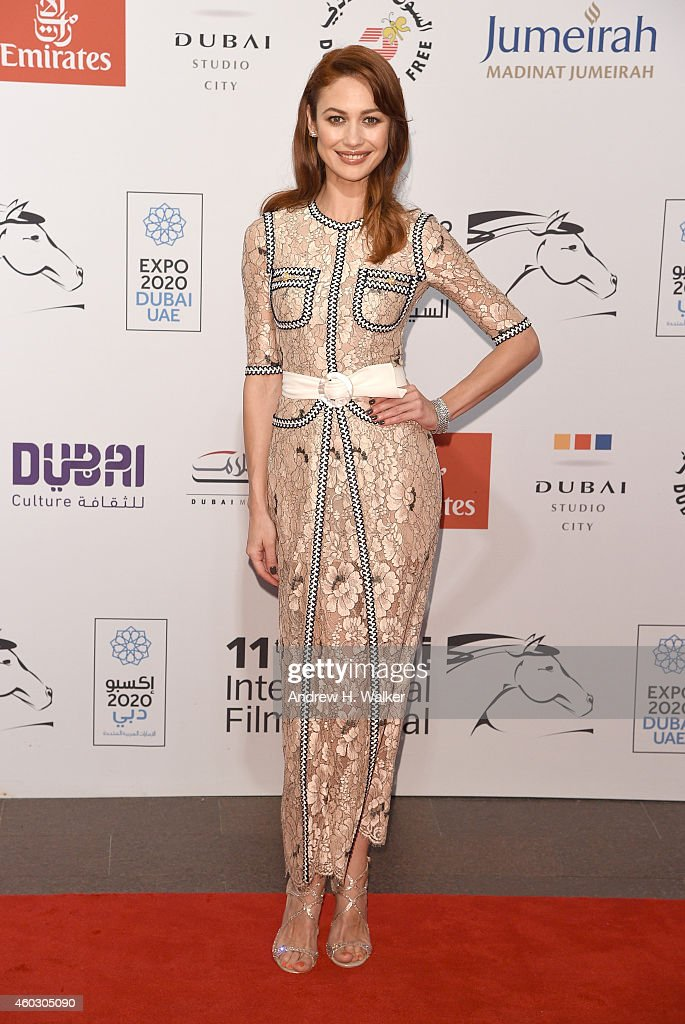 <a gi-track='captionPersonalityLinkClicked' href=/galleries/search?phrase=Olga+Kurylenko&family=editorial&specificpeople=630281 ng-click='$event.stopPropagation()'>Olga Kurylenko</a> attends 'The Water Diviner' premiere during day two of the 11th Annual Dubai International Film Festival held at the Madinat Jumeriah Complex on December 11, 2014 in Dubai, United Arab Emirates.