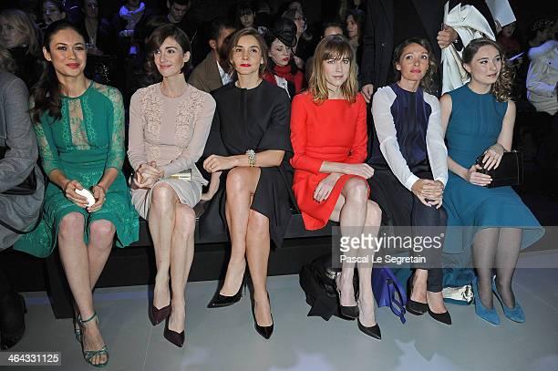 Olga Kurylenko Paz Vega Clotilde Courau MarieJosee Croze Anne Marivin and Deborah Francois attend the Elie Saab show as part of Paris Fashion Week...