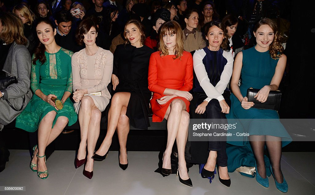 Olga Kurylenko, Paz Vega, Clotilde Courau, Marie-Josee Croze, Anne Marivin and Deborah Francois attend the Elie Saab show as part of Paris Fashion Week Haute Couture Spring/Summer 2014 , at Theatre National de Chaillot, in Paris.