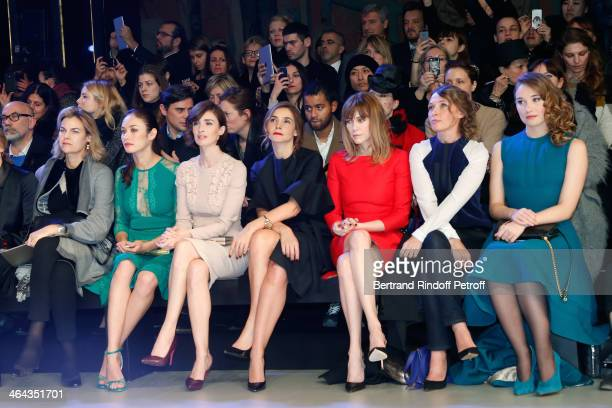 Olga Kurylenko Paz Vega Princess of Savoy Clotilde Courau MarieJosee Croze Anne Marivin and Deborah Francois attend the Elie Saab show as part of...