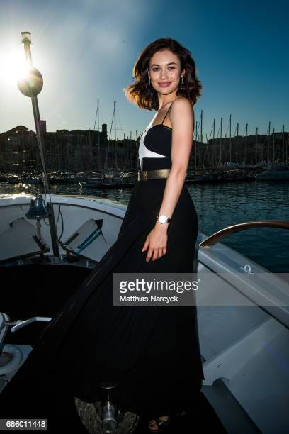 Olga Kurylenko poses for photographs at the 'Salty' Photocall during the 70th annual Cannes Film Festival at Lady Jersey Yacht on May 20 2017 in...