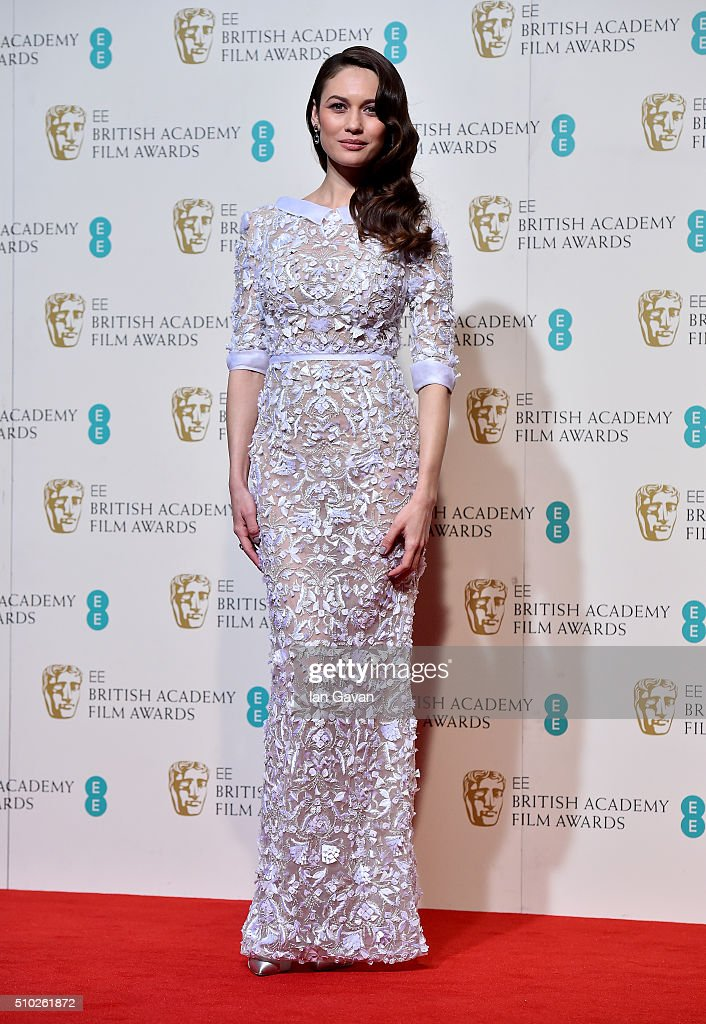 <a gi-track='captionPersonalityLinkClicked' href=/galleries/search?phrase=Olga+Kurylenko&family=editorial&specificpeople=630281 ng-click='$event.stopPropagation()'>Olga Kurylenko</a> poses in the winners room at the EE British Academy Film Awards at the Royal Opera House on February 14, 2016 in London, England.